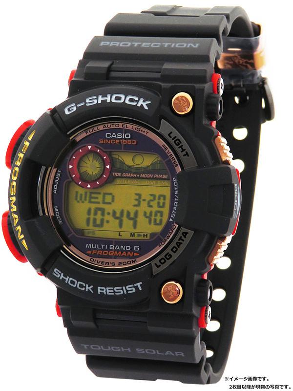 【CASIO】【G-SHOCK】【美品】【'18年購入】カシオ『Gショック フロッグマン マグマオーシャン』GWF-1035F-1JR メンズ ソーラー電波クォーツ 1ヶ月保証【中古】b06w/h17S