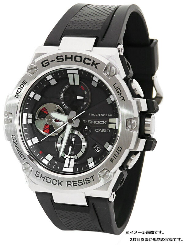 【CASIO】【G-SHOCK】カシオ『Gショック Gスチール』GST-B100-1AJF メンズ ソーラークォーツ 1週間保証【中古】b06w/h18A