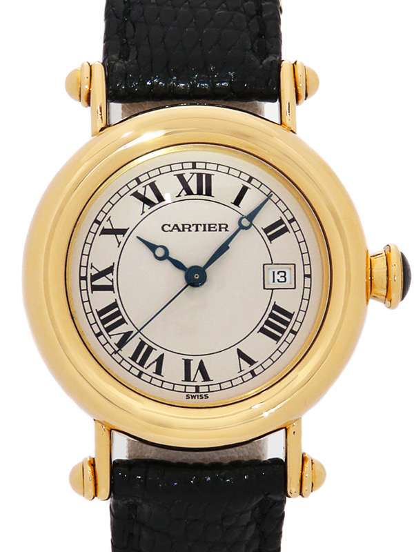 【Cartier】【YGケース】【電池交換・仕上済】カルティエ『ディアボロ LM』ボーイズ クォーツ 3ヶ月保証【中古】b01w/h02A