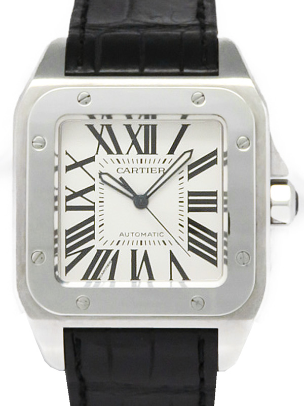 【Cartier】【仕上済】カルティエ『サントス100LM』W20073X8 メンズ 自動巻き 6ヶ月保証【中古】b05w/h10A