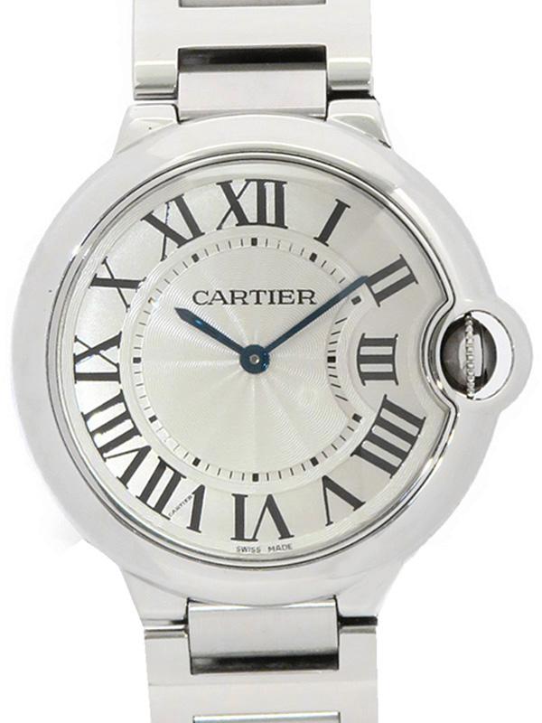 【Cartier】【電池交換・仕上済】カルティエ『バロンブルーMM』W69011Z4 メンズ クォーツ 3ヶ月保証【中古】b05w/h09A