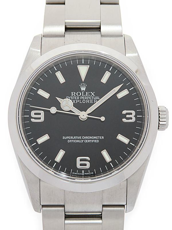【ROLEX】ロレックス『エクスプローラー1』114270 D番'05年頃製 メンズ 自動巻き 12ヶ月保証【中古】b05w/h10A