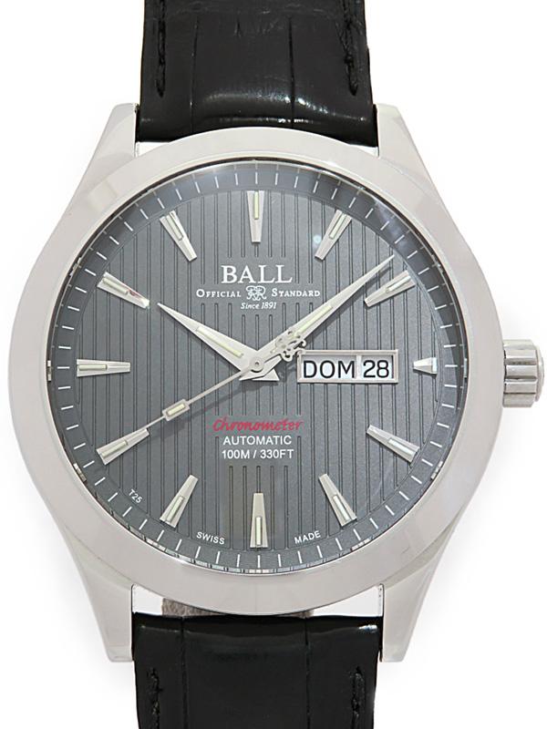 【BALL】ボール『エンジニア2』NM2028C-LCJ-GY メンズ 自動巻き 1ヶ月保証【中古】b03w/h00AB