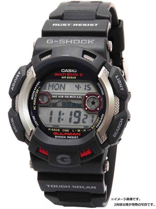 【CASIO】【G-SHOCK】カシオ『Gショック ガルフマン』GW-9110-1 メンズ ソーラー電波クォーツ 1週間保証【中古】b05w/h22A
