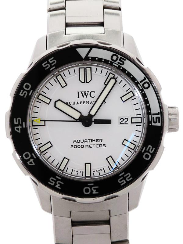 【IWC】【仕上済】インターナショナルウォッチカンパニー『アクアタイマー オートマティック2000』IW356809 メンズ 自動巻き 3ヶ月保証【中古】b03w/h20AB