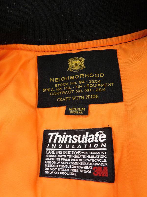 NEIGHBORHOODMA 1 N JKTアウター ネイバーフッド MA 1 フライトジャケット sizeMEDIUM 162SZNH JKM04 メンズ 1週間保証b02f h15BXZkuiOP