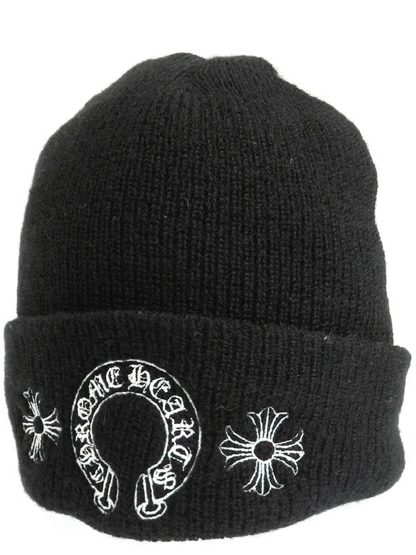【CHROME HEARTS】【アメリカ製】クロムハーツ『ニット帽』2238-304-4101 メンズ 帽子 1週間保証【中古】b01f/h10AB