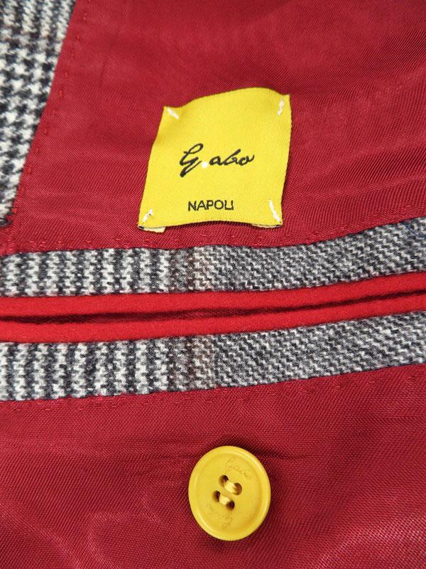 gabo NAPOLIイタリア製上下セット ガボ ナポリ チェック柄スーツ size46 NwNapoliP 10 メンズ セットアップ 1週間保証b03f h03AB5AR3j4L