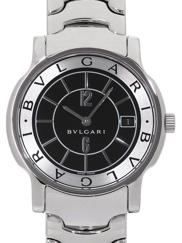 【BVLGARI】ブルガリ『ソロテンポ』ST35S ボーイズ クォーツ 1ヶ月保証【中古】b05w/h22A