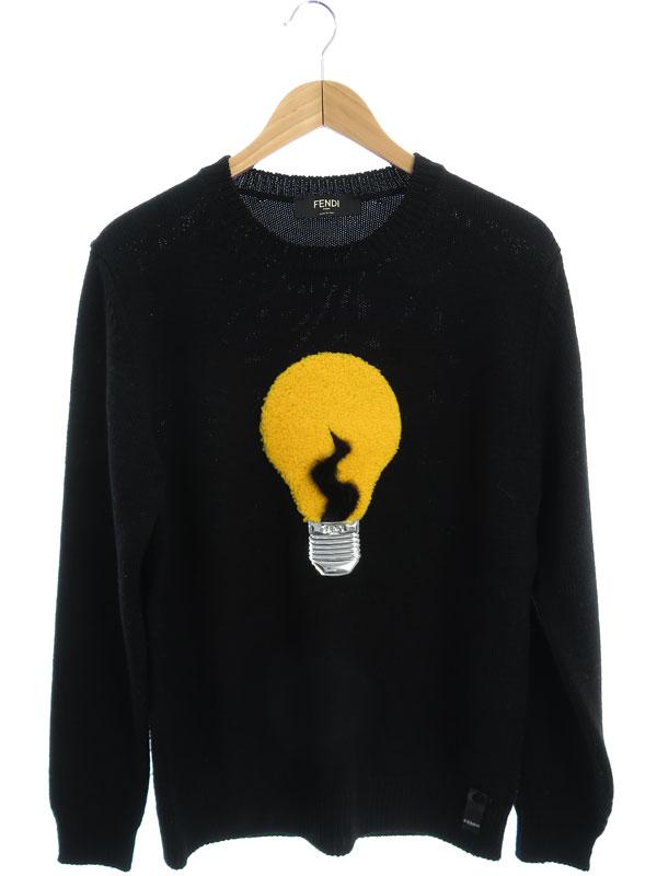 【FENDI】【イタリア製】【トップス】フェンディ『長袖ニット size48』FZZ155 3VY メンズ セーター 1週間保証【中古】b01f/h07AB