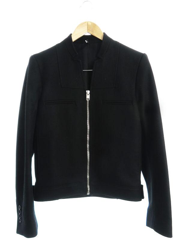 【Dior Homme】【LAMPOジッパー】【イタリア製】ディオールオム『ウール混 ジップアップジャケット size48』7H3141060315 メンズ ブルゾン 1週間保証【中古】b01f/h11AB