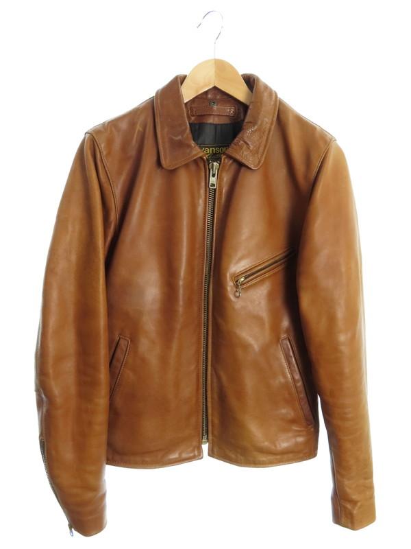 【VANSON】【アメリカ製】【アウター】バンソン『レザージャケット size36』メンズ 革ジャン 1週間保証【中古】b01f/h10B