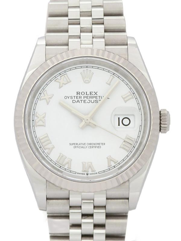 【ROLEX】【ホワイトローマン】【'19年購入】ロレックス『デイトジャスト36』126234 ランダム番 メンズ 自動巻き 12ヶ月保証【中古】b03w/h08A