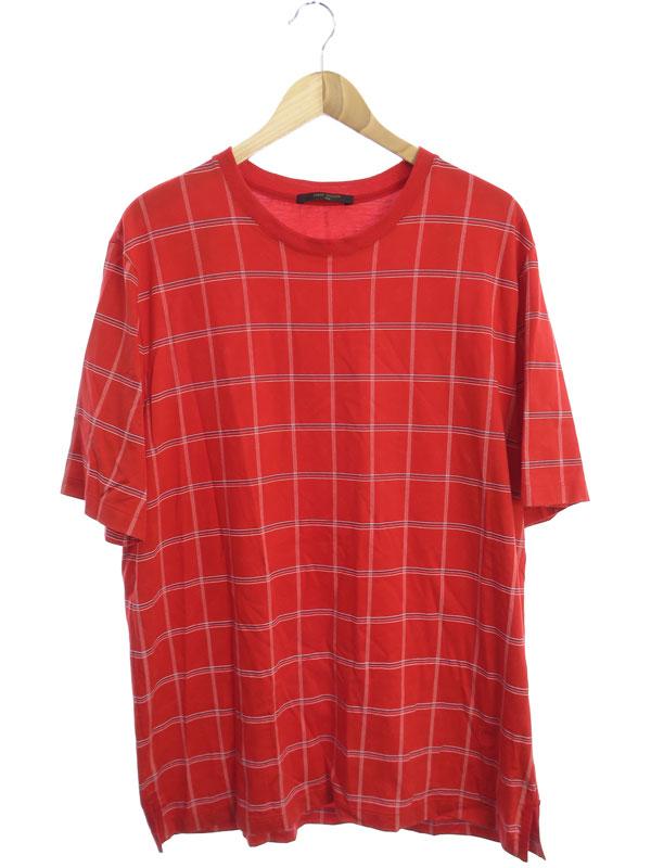 【LOUIS VUITTON】【モノグラムチェック】【イタリア製】ルイヴィトン『半袖Tシャツ size4L』RM162M JPA HAY02W メンズ カットソー 1週間保証【中古】b01f/h12AB