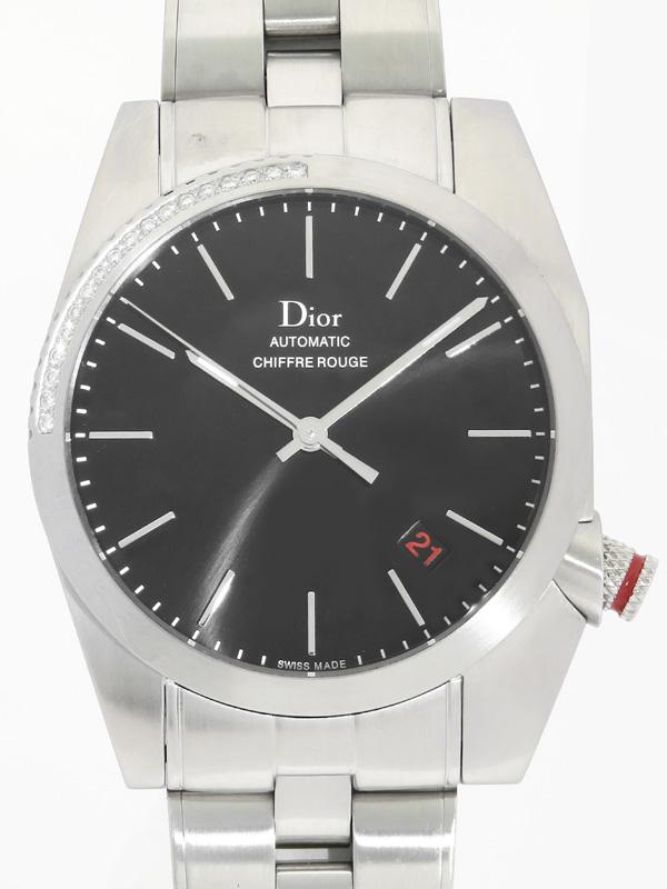 【Dior】【裏スケ】ディオール『シフル ルージュ ベゼルダイヤ』CD084512M001 メンズ 自動巻き 3ヶ月保証【中古】b06w/h19AB
