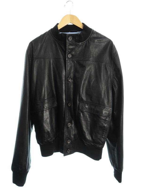【BORRELLI】【アウター】ボレリ『レザージャケット size50』メンズ 革ジャン 1週間保証【中古】b03f/h07B