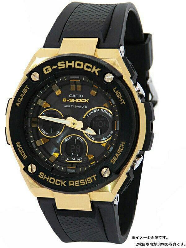 【CASIO】【G-SHOCK】カシオ『Gショック Gスチール』GST-W300G-1A9 メンズ ソーラー電波クォーツ 1週間保証【中古】b01w/h12B