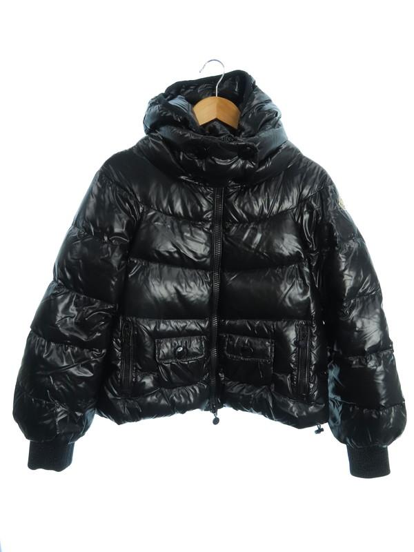 【MONCLER】【ririジッパー】【ルーマニア製】モンクレール『CLUNY ダウンジャケット size1』2010 レディース ブルゾン 1週間保証【中古】b01f/h09AB