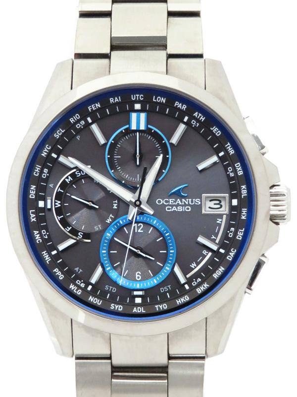 【CASIO】【OCEANUS】カシオ『オシアナス』OCW-T2600-1AJF メンズ ソーラー電波クォーツ 1ヶ月保証【中古】b03w/h14AB