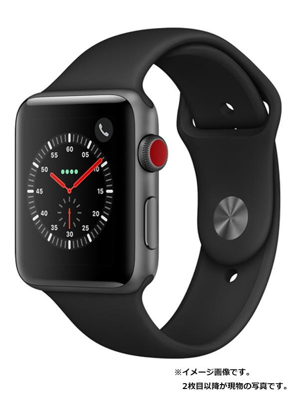 【Apple】【アップルウォッチ シリーズ3】アップル『Apple Watch Series 3 GPS+Cellularモデル 42mm』MQKN2J/A メンズ スマートウォッチ 1週間保証【中古】b03w/h16B