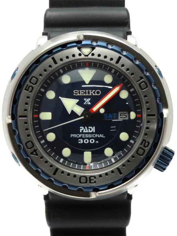 【SEIKO】【700本限定】セイコー『マリーンマスター プロフェッショナル PADIコラボ限定モデル』SBBN039 メンズ クォーツ 1ヶ月保証【中古】b06w/h17A