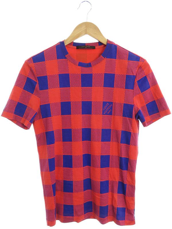 【LOUIS VUITTON】【ダミエ】【イタリア製】【トップス】ルイヴィトン『半袖Tシャツ sizeXXS』RM121 H1JR50JU3 メンズ カットソー 1週間保証【中古】b03f/h07AB