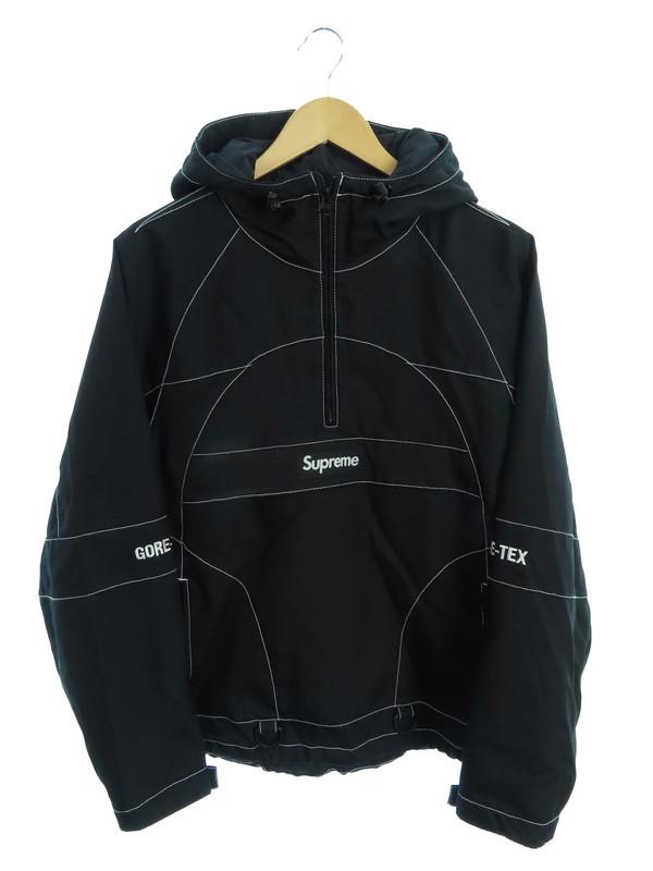 【Supreme】【GORE-TEX Contrast Stitch Anorak】シュプリーム『ハーフジッププルオーバーパーカー sizeS』19FW メンズ 1週間保証【中古】b01f/h15AB