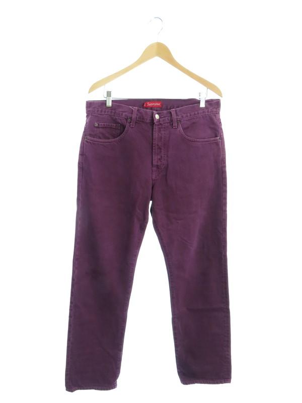 【Supreme】【Washed Regular Jeans】【アメリカ製】【ジーパン】【ボトムス】シュプリーム『ジーンズ size32』メンズ デニムパンツ 1週間保証【中古】b01f/h11AB