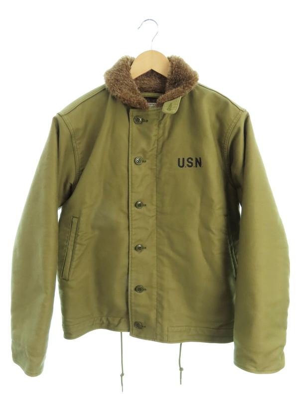 【HOUSTON】【アウター】ヒューストン『N-1 デッキジャケット size36』メンズ 1週間保証【中古】b03f/h03AB