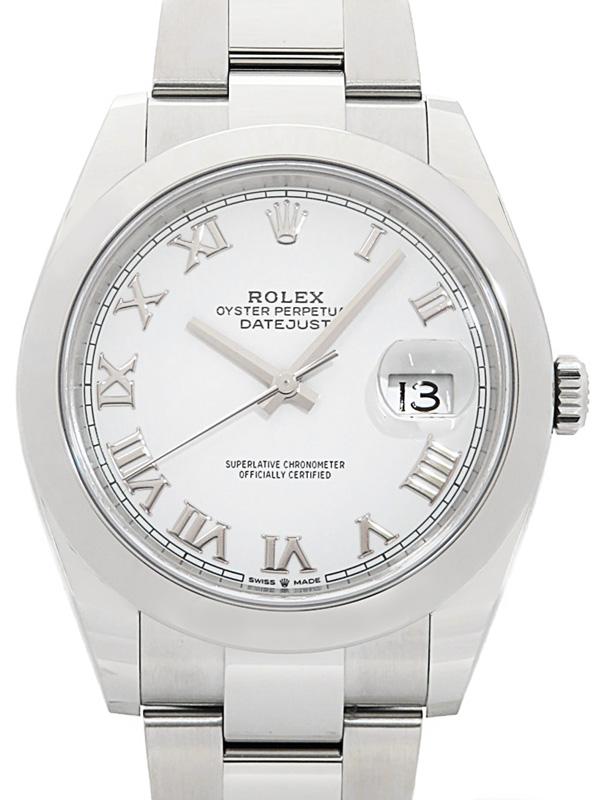 【ROLEX】【ホワイトローマン】【仕上済】ロレックス『デイトジャスト41』126300 ランダム番 メンズ 自動巻き 12ヶ月保証【中古】b01w/h08A