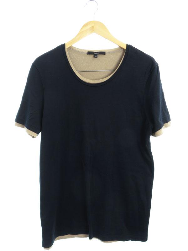 【GUCCI】【イタリア製】【トップス】グッチ『レイヤード風 半袖Tシャツ sizeM』256059 X8722 メンズ カットソー 1週間保証【中古】b03f/h03AB