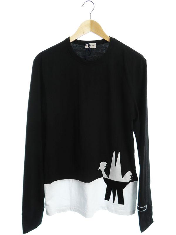 【MONCLER】【トップス】モンクレール『MAGLIA T-SHIRT M/LUNGA 長袖Tシャツ sizeL』2019 メンズ カットソー 1週間保証【中古】b03f/h12AB