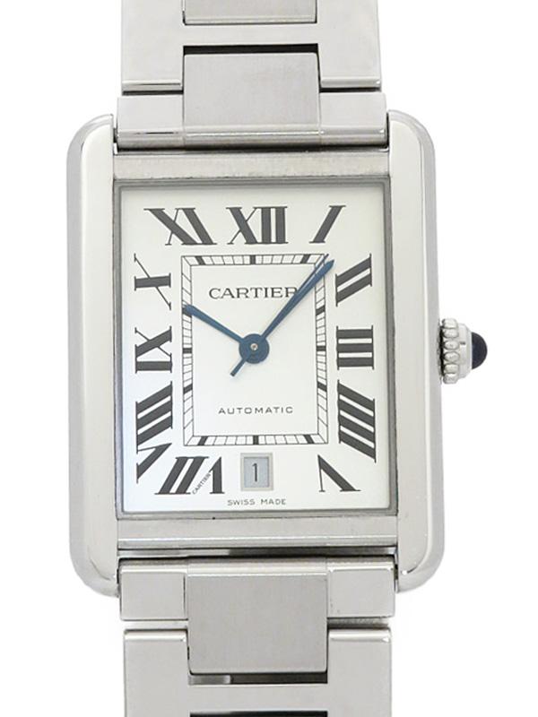 【Cartier】【仕上済】カルティエ『タンクソロ XL』W5200028 メンズ 自動巻き 3ヶ月保証【中古】b03w/h09A