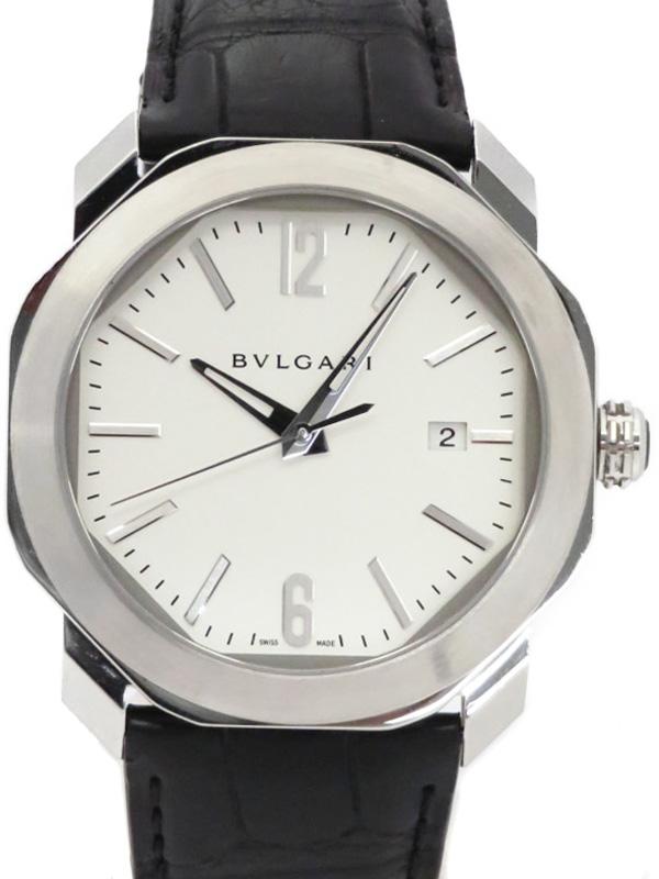 【BVLGARI】【裏スケ】ブルガリ『オクトローマ』OC41S メンズ 自動巻き 3ヶ月保証【中古】b03w/h20AB