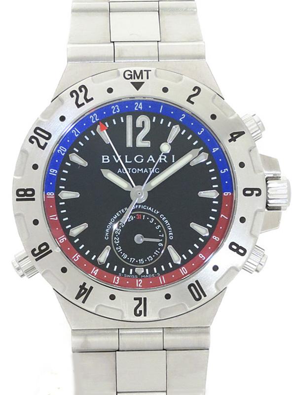 【BVLGARI】ブルガリ『ディアゴノ プロフェッショナル GMT』GMT40S メンズ 自動巻き 3ヶ月保証【中古】b06w/h19B