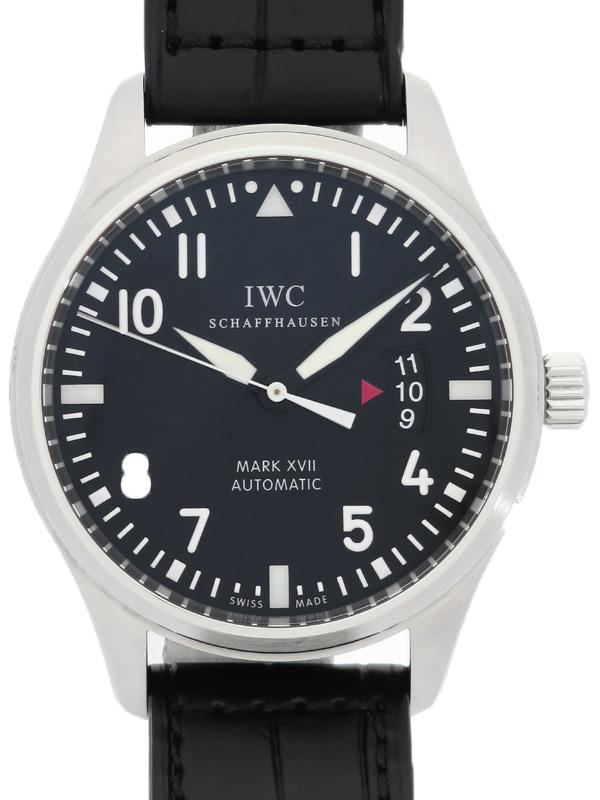 【IWC】インターナショナルウォッチカンパニー『パイロットウォッチ マーク17』IW326501 メンズ 自動巻き 3ヶ月保証【中古】b06w/h17A