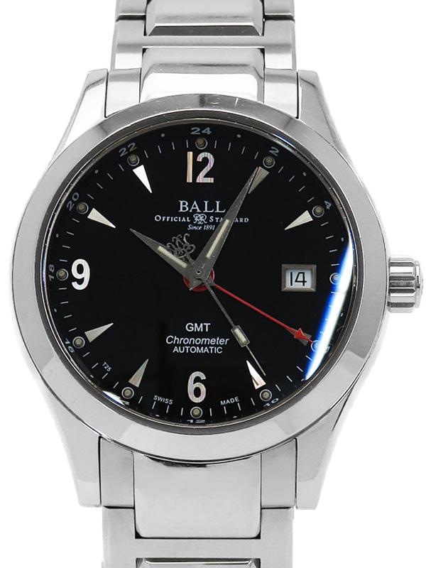 【BALL】ボールウォッチ『エンジニア2 オハイオ GMT ブラック』GM1032C-S2CJ-BK メンズ 自動巻き 1ヶ月保証【中古】b06w/h17BC
