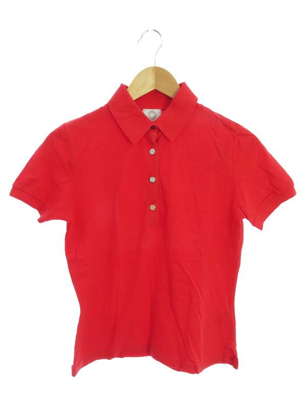 【HERMES】【SELLIERS】【イタリア製】【トップス】エルメス『半袖ポロシャツ sizeM』レディース 1週間保証【中古】b01f/h12AB