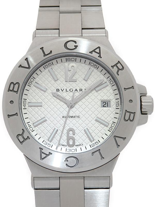 BVLGARI '20年購入 ブルガリ ディアゴノ DG40S 限定Special Price 3ヶ月保証 メンズ 信用 自動巻き 中古