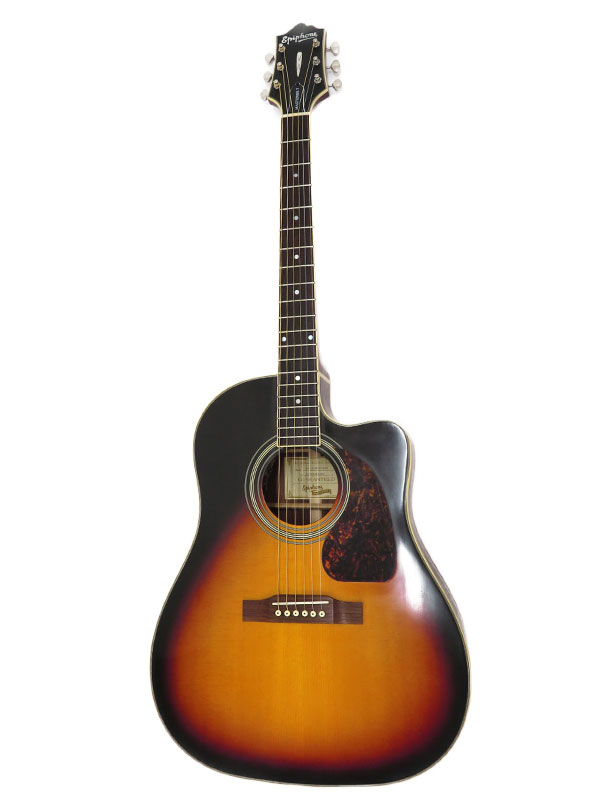 気質アップ ファッション通販 Epiphone オール単板 ボディ変色 エピフォン E.アコースティックギター 1週間保証 中古 2014年製 AJ-500RCE エレアコギター
