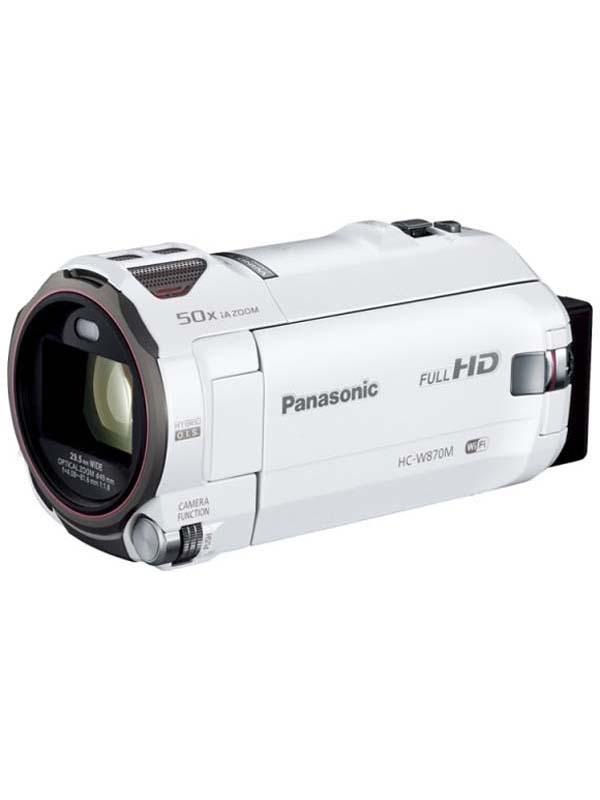パナソニック『デジタルハイビジョンビデオカメラ』HC-W870M-W ホワイト 1MOS 64GB 光学20倍【新品】b03e/N