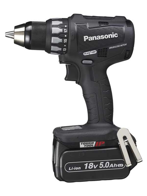 【Panasonic】パナソニック『充電ドリルドライバー』EZ74A2LJ2G-B 黒 18V 5.0Ah×2 14.4V対応 穴あけ ネジ締め【新品】b00t/N