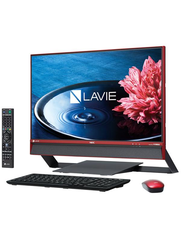 【NEC】エヌイーシー『LAVIE Desk All-in-one DA770/EAR-KS』PC-DA770EAR-KS クランベリーレッド Windows10 23.8型FHD 3TB デスクトップPC【新品】b00e/N