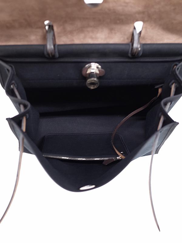 HERMESシルバー金具 エルメス エールバッグ ジップ MM N刻印 2010年製 ユニセックス 2WAYバッグ 1週間保証b06b h18ABUMVqSzp