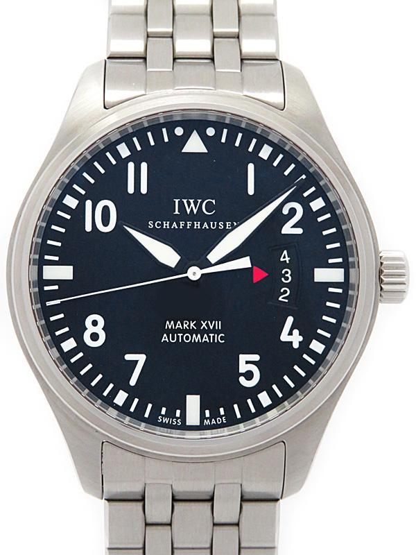 最先端 【IWC】【美品】インターナショナルウォッチカンパニー『パイロットウォッチ マーク17』IW326504 メンズ 自動巻き 6ヶ月保証【】b01w/h08SA, 札所0番 fe2cbfc0