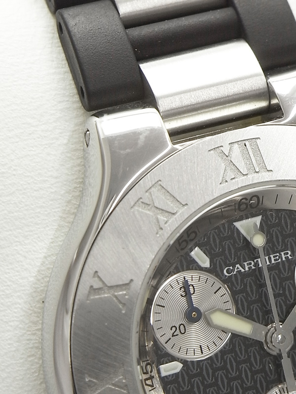 Cartier電池交換済 カルティエ マスト21 ヴァンティアン クロノスカフ W10125U2 メンズ クォーツ 3ヶ月保証b06w h17BhdCtsrQ