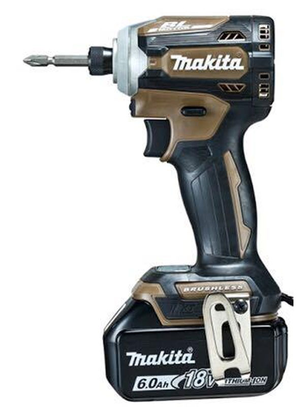 【makita】マキタ『充電式インパクトドライバ』TD171DGXAB オーセンティックブラウン 18V 6.0Ah×2 180N・m インパクトドライバー 1週間保証【新品】b00t/N
