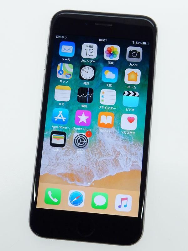 【Apple】【SoftBankのみ】【交換プログラム対象】アップル『iPhone 6s 128GB SoftBank』MKQT2J/A スペースグレイ iOS11.2.5 4.7型 白ロム ○判定【中古】b03e/h20B