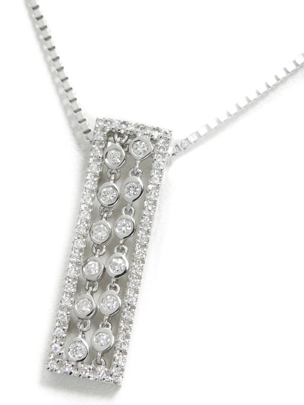 セレクトジュエリー『K18WGネックレス ダイヤモンド0.27ct』1週間保証【中古】b01j/h04A
