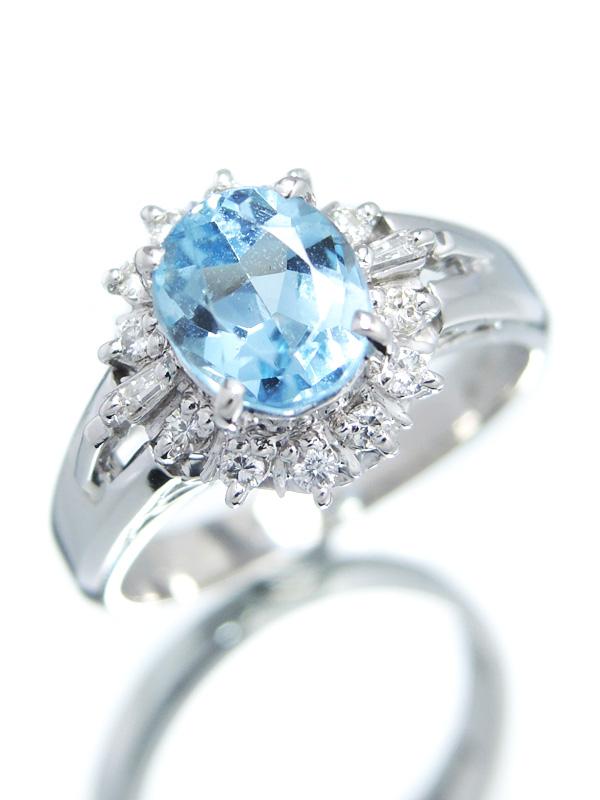 6bd5d88f1355 【ソーティング】セレクトジュエリー『PT900リング アクアマリン1.28ct ダイヤモンド0.17ct』